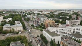 Vista de um arranha-céus na cidade de Kirov filme