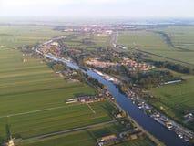 Vista de um balão de ar quente Imagem de Stock Royalty Free