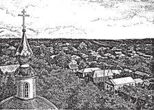 Vista de um belltower Imagens de Stock Royalty Free