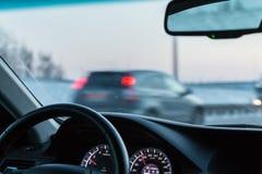 Vista de um carro movente Imagens de Stock Royalty Free