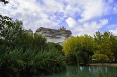Vista de um castelo Imagem de Stock Royalty Free