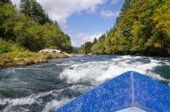 Vista de um driftboat Fotografia de Stock Royalty Free