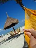 Vista de um hammock Fotos de Stock Royalty Free