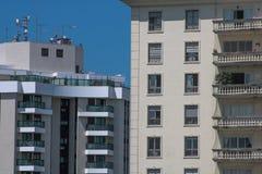 Vista de um ins Sao Paulo da janela fotografia de stock