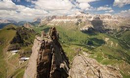 Vista de um pico nas dolomites Foto de Stock Royalty Free