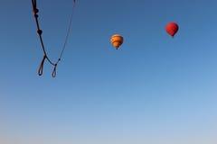 Vista de um voo do balão de ar quente acima de Luxor Fotos de Stock Royalty Free