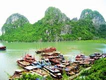 Vista de uma baía, ilha dos Gato-vagabundos imagem de stock