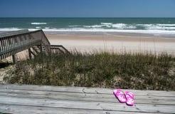 Vista de uma casa de praia Fotos de Stock Royalty Free