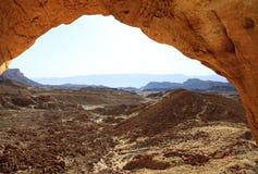 Vista de uma caverna Fotos de Stock