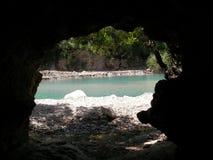 Vista de uma caverna Foto de Stock
