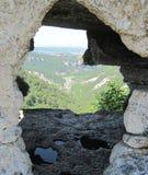 Vista de uma cidade de pedra medieval Fotos de Stock