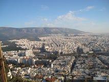 Vista de uma cidade Grecian Foto de Stock