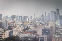 Vista de uma cidade moderna Imagem de Stock