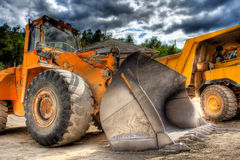 Vista de uma escavadora Fotografia de Stock Royalty Free