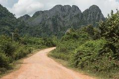 Vista de uma estrada da lama Fotografia de Stock