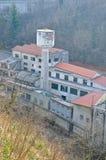 Vista de uma fábrica abandonada Fotos de Stock