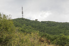 Vista de uma inclinação na parte superior Mashuk da montanha, Pyatigorsk, Rússia Imagens de Stock Royalty Free