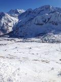 Vista de uma montanha fotografia de stock