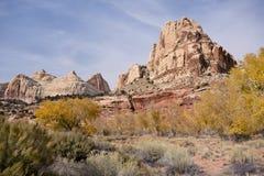 Vista de uma montanha Imagens de Stock Royalty Free