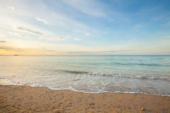 vista de uma praia antes do por do sol Foto de Stock