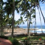 Vista de uma praia em Kovalam imagem de stock