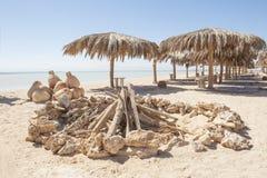 Vista de uma praia tropical Fotografia de Stock Royalty Free