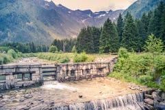 Vista de uma torrente em um parque Fotos de Stock Royalty Free