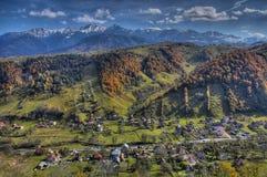 Vista de uma vila Fotos de Stock Royalty Free