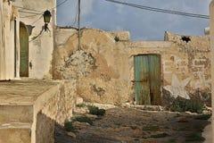 Vista de uma vila do Berber, Tunísia fotografia de stock royalty free
