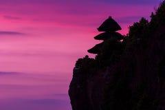Vista de un acantilado en Bali Indonesia Imagen de archivo