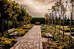 Vista de un callejón en el parque Fotos de archivo