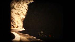 Vista de un coche de deportes del automóvil descubierto de TR2 Triumph almacen de video