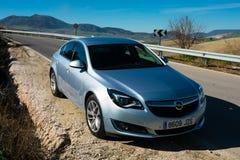 Vista de un coche de las insignias de Opel Fotografía de archivo libre de regalías