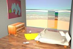 Vista de un cuarto cerca de la playa Fotografía de archivo libre de regalías