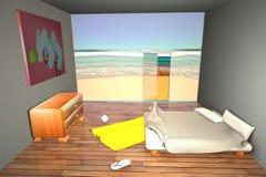 Vista de un cuarto cerca de la playa Foto de archivo libre de regalías