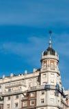 Vista de un edificio viejo en Madrid, España Fotografía de archivo