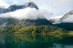 Vista de un fiordo en Noruega Imagen de archivo