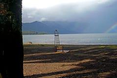 Vista de un gran lago chileno Fotografía de archivo libre de regalías