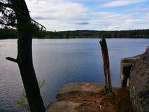 Vista de un lago Foto de archivo