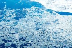 Vista de un paisaje congelado de un aeroplano Imagen de archivo