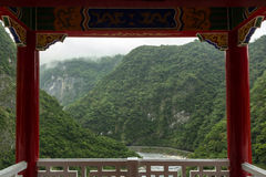 Vista de un paisaje montañoso en Taiwán imagen de archivo libre de regalías