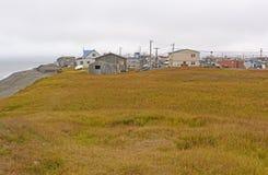 Vista de un pueblo ártico Fotografía de archivo