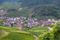Vista de un pueblo alemán hermoso Fotografía de archivo libre de regalías