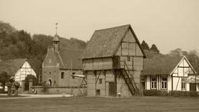 Vista de un pueblo viejo imagen de archivo libre de regalías