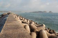 Vista de un puerto en Sagres, Algarve Imagenes de archivo