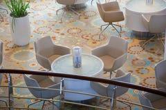 Vista de un restaurante de un balcón Imagen de archivo