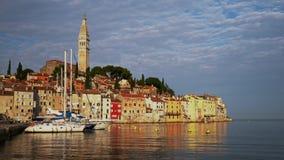 Vista de un Rovinj, Croacia almacen de metraje de vídeo
