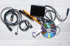 Vista de un tablero de la mesa sucio fotos de archivo libres de regalías