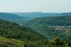 Vista de un valle en Alemania Imágenes de archivo libres de regalías