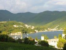 Vista de una bahía Fotos de archivo libres de regalías